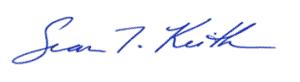 Sean Keith Signature