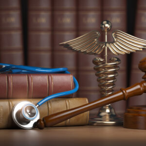 image of law books and stethoscope for a Missouri paraquat lawsuit